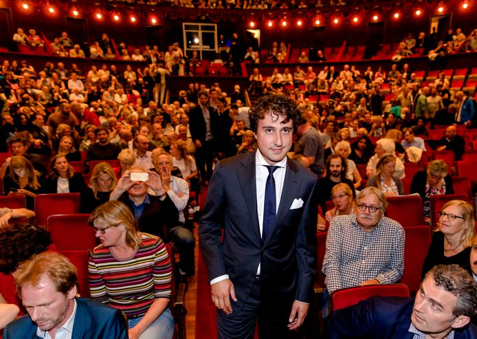 Jesse Klaver bij de vertoning van de documentaire 'Jesse' van Joey Boink in Koninklijk Theater Carré.