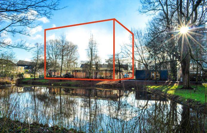 De plek waar de flat aan de Cornelie van Zantenstraat moet komen.