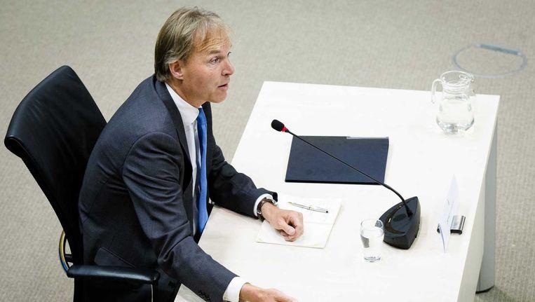Voormalig HSA-bestuursvoorzitter Jan-Willem Siebers tijdens zijn verhoor. Beeld anp