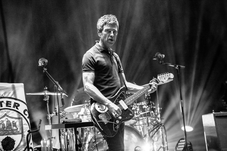 Noel Gallagher met Noel Gallagher's High Flying Birds in 2018. Beeld Getty
