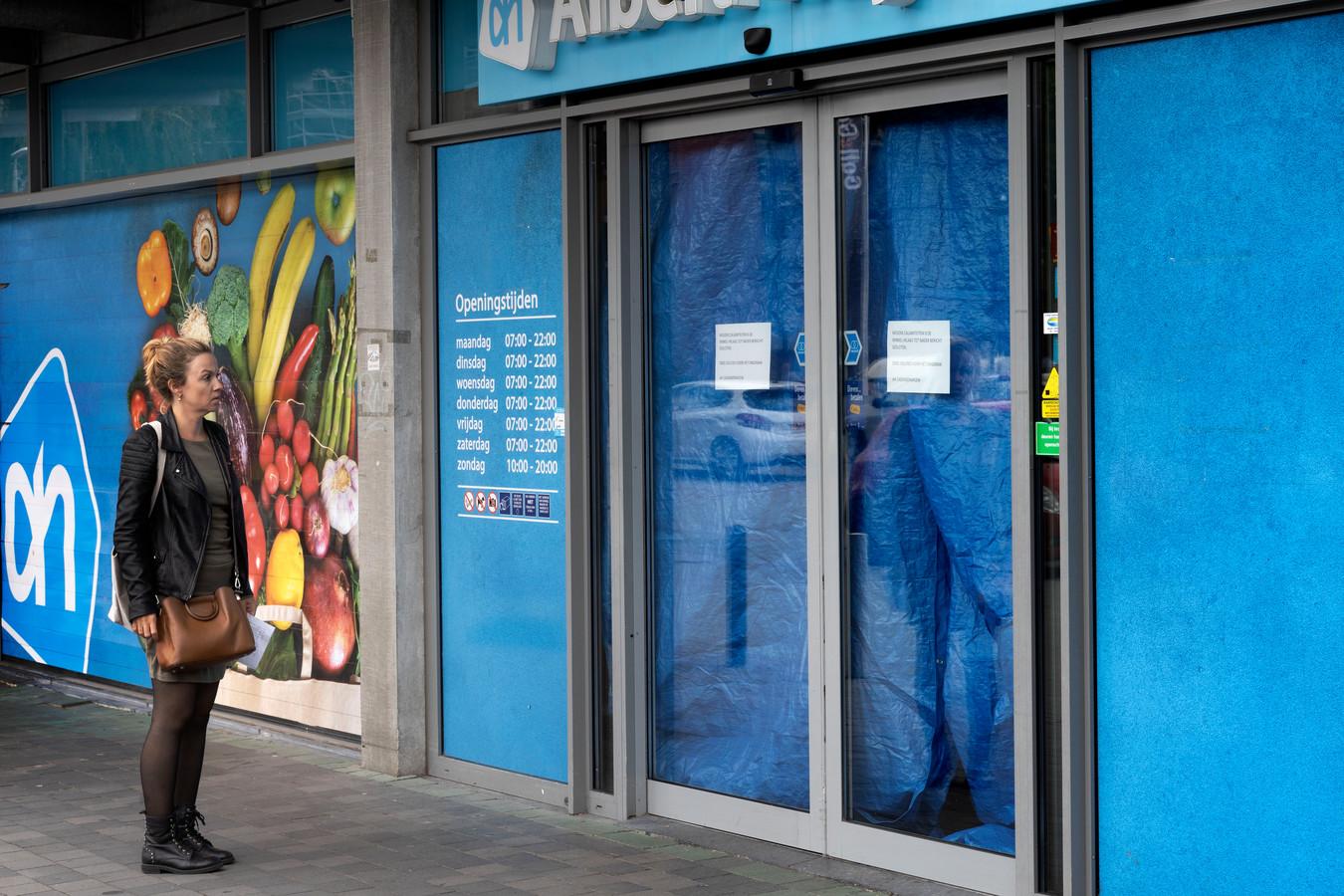 De Albert Heijn aan het Cassandraplein is sinds afgelopen weekend dicht