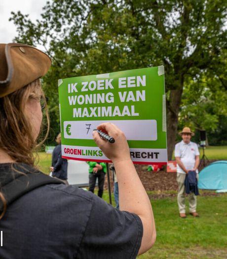 Protest tegen woningnood in Dordrecht