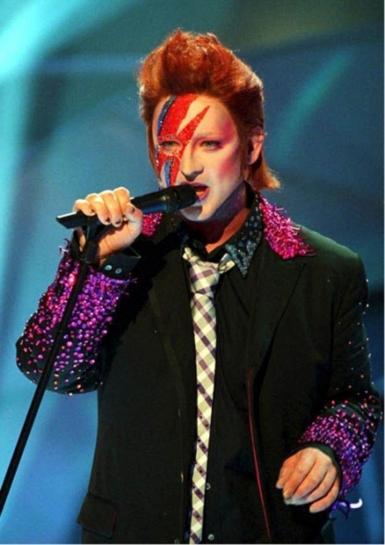 'Boy George in Ziggy Stardust-make-up: 'Het voelde alsof David Bowie familie van me was.' Beeld