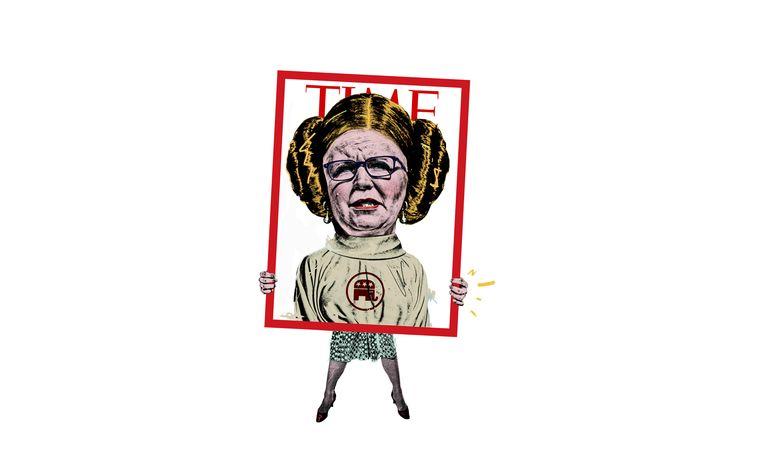 Volkskrant Zaterdag - Op het tweede gezicht / Liz Cheney Beeld Javier Muñoz