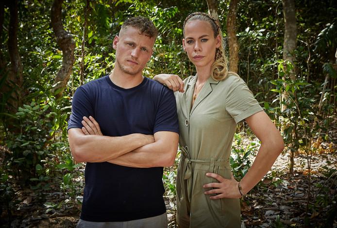 Kaj Gorgels en Nicolette Kluijver, presentatoren Expeditie Robinson.