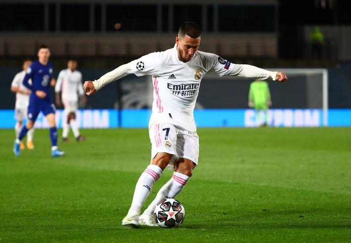 Hazard in actie tegen Chelsea.