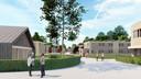 Het toekomstige azc heeft iets van een dorpje.
