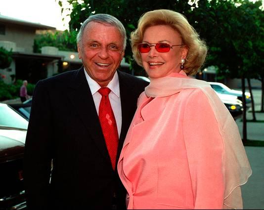Frank en Barbara SInatra in 1996.