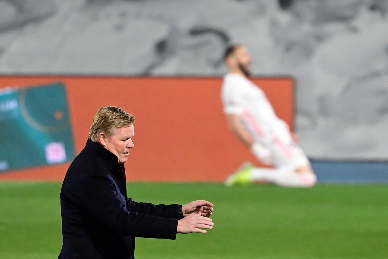 Ronald Koeman baalt stevig na de goal van Karim Benzema