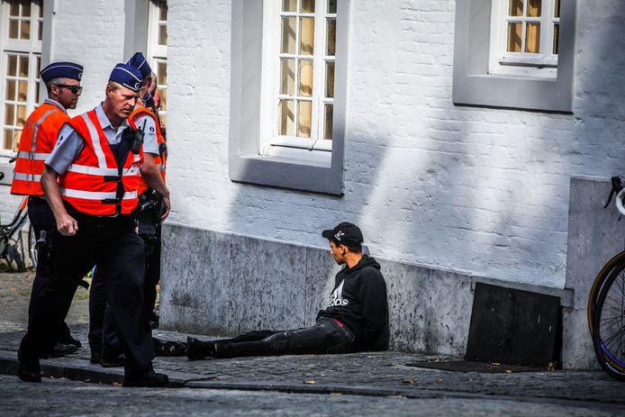 De politie was massaal van de partij. Op enkele kleine incidenten na verliep alles probleemloos.