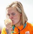 Sharon van Rouwendaal werd in 2016 olympisch kampioen op de 10 km openwaterzwemmen in Rio de Janeiro.