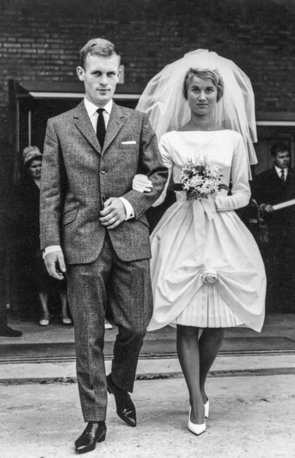 De trouwfoto van Sjef en Thea Louwers - van der Meijden uit 1961