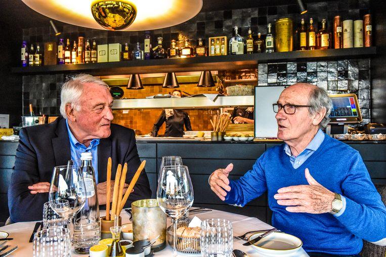 Paul Van Himst en Wilfried van Moer, Brustem, 6/5/2019 Paul Van Himst, Wilfried Van Moer, Humo, Koen Bauters, 2019 Beeld Koen Bauters/Humo