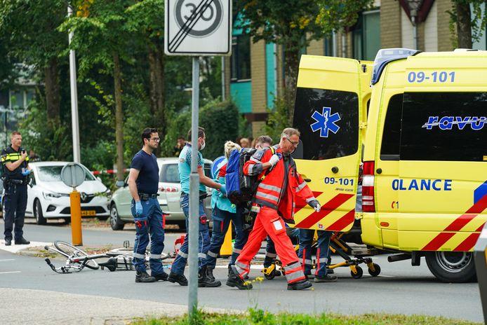 Ongeluk met fietser op de Furkabaan in Utrecht.