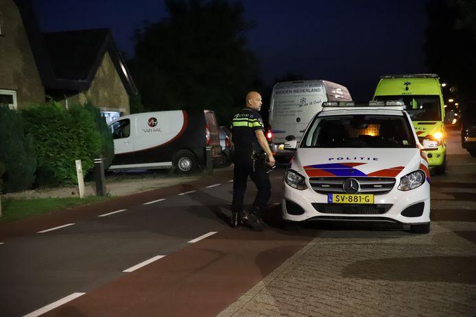 Een personenauto kwam op de Dreef in Wadenoijen in botsing met een tegemoetkomende scooter.