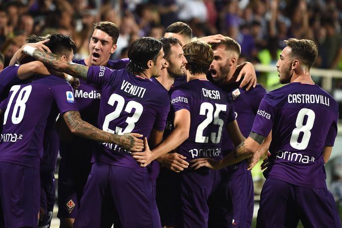 Fiorentina juicht na een goal.