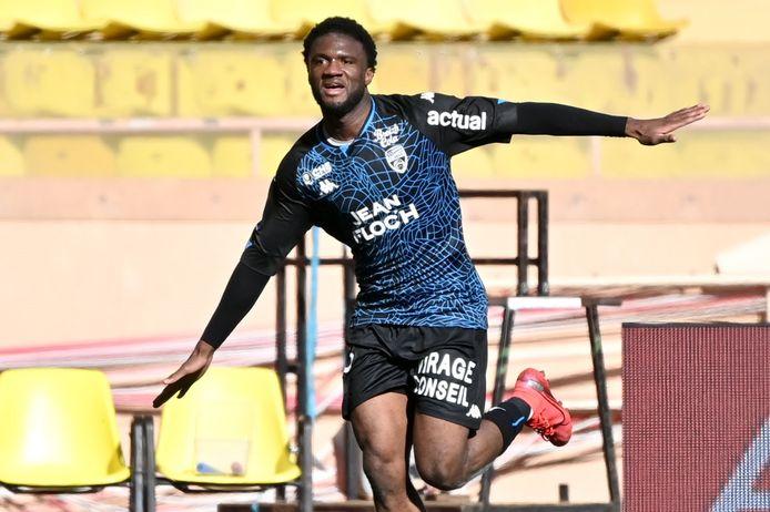 Terem Moffi trof twee keer raak in het gelijkspel tegen AS Monaco (2-2).
