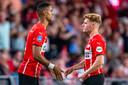Twee spelers die wel nadrukkelijk in de huidige plannen van PSV voorkomen: Cody Gakpo en Yorbe Vertessen.