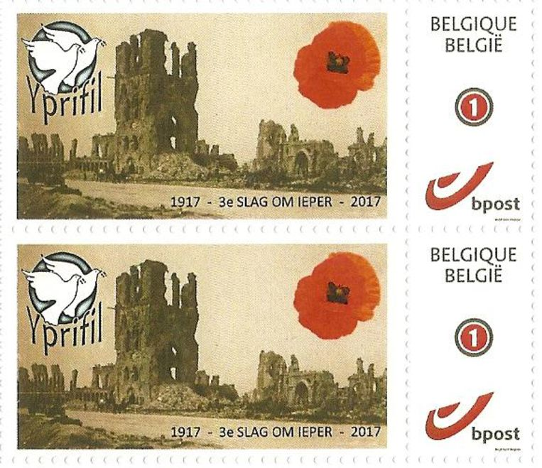 Het ontwerp van de postzegel.