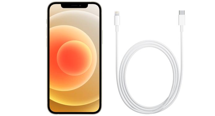 De inhoud van een iPhone 12-verpakking.
