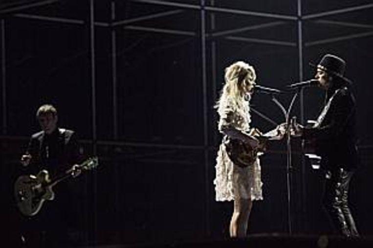 Ilse Delange en Waylon als The Common Linnets in 2014 in Kopenhagen.  Beeld