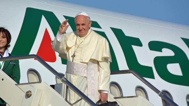 Paus Franciscus aangekomen in Jordanië