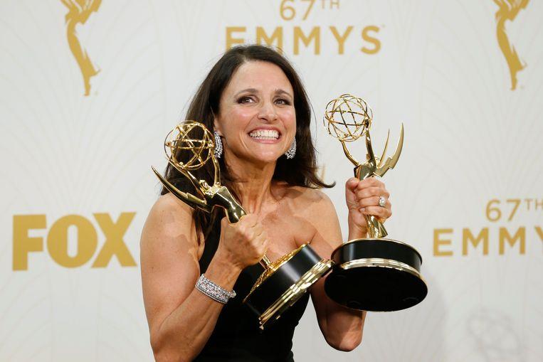 Julia Louise Dreyfus was erg blij met de Emmy's voor Veep. Beeld PHOTO_NEWS