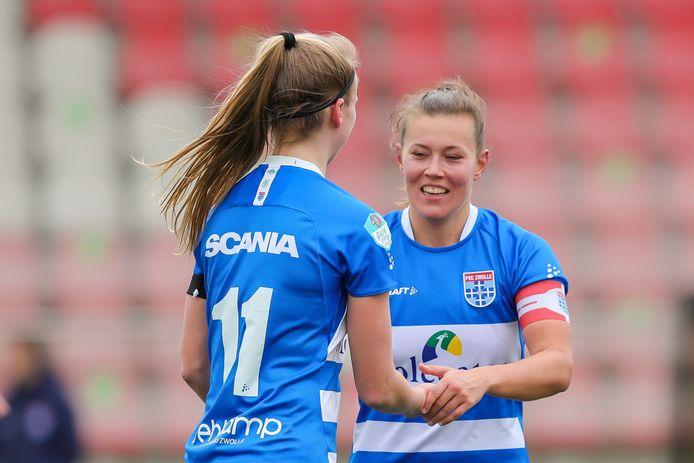 PEC Zwolle Vrouwen ziet aanvoerder Dominique Bruinenberg in de zomer na twee jaar vertrekken.