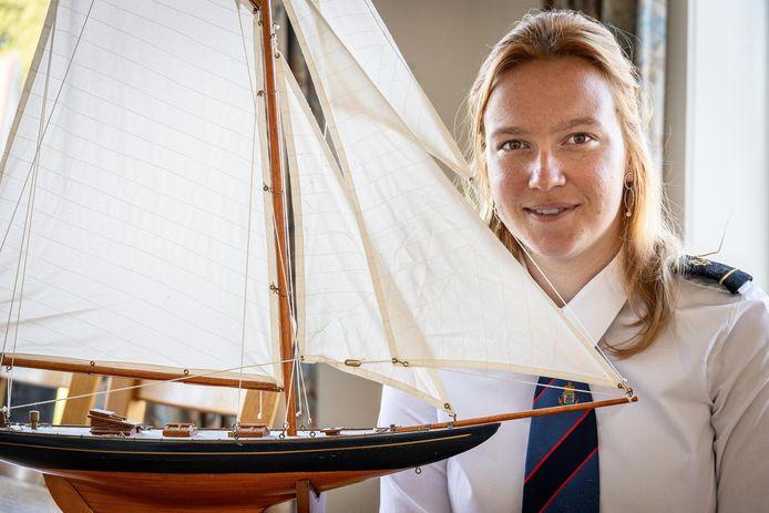 Fleur Koppers, maritiem officier in opleiding, verblijft binnenkort 150 dagen op zee.