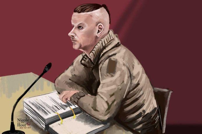 Harm-Hendrik S. (29) tijdens de zitting in Lelystad.