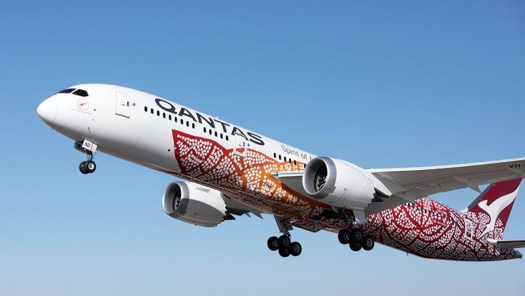 De Boeing 787 Dreamliner van Qantas. Beeld EPA