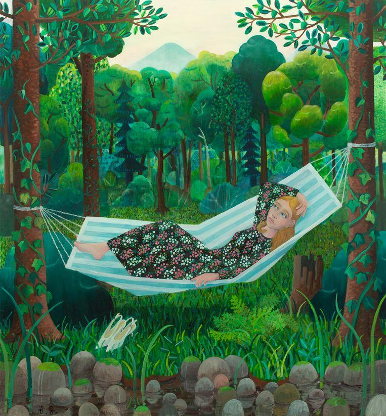 'Girl in the hammock'. Beeld rv