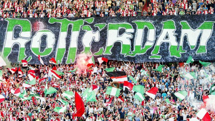 Feyenoord-supporters willen gaan lopen van de Spaanse trappen in Rome naar het Stadio Olimpico.