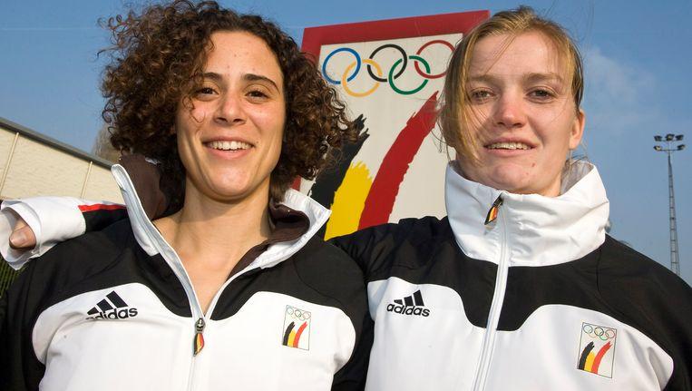 Elfje Willemsen (l) eindigde vijftiende, Eva Willemarck (r) achttiende. Beeld BELGA