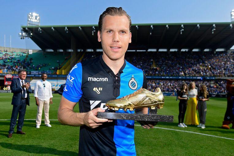 Eén van de gasten in 'Wereldkampioen' vanavond: Gouden Schoen Ben Crabbé. Beeld Photo News