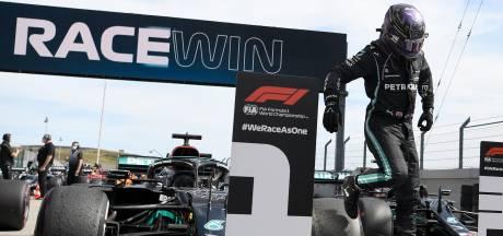 Hamilton: 'Gelukkig maakte Max een foutje en daar profiteerde ik van'