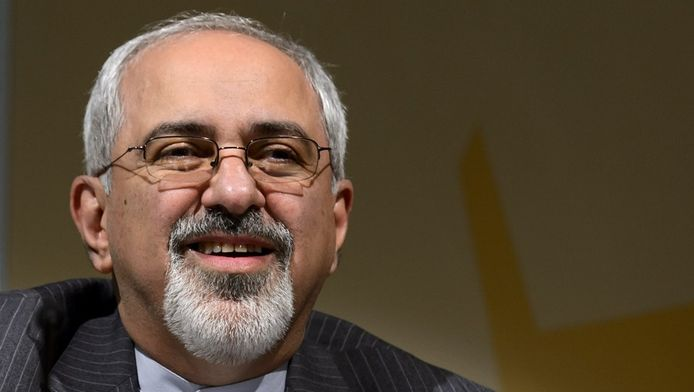 De Iraanse minister van buitenlandse zaken Mohammad Javad Zarif