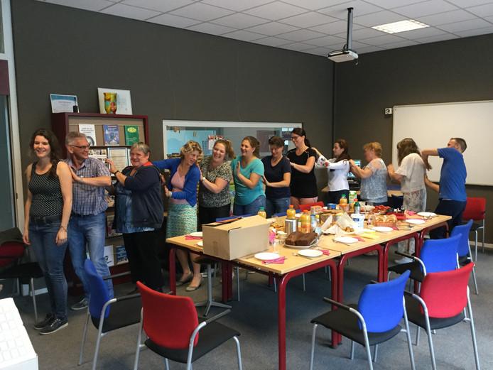 Basisschool De Pionier in Valkenswaard staakte ook mee.
