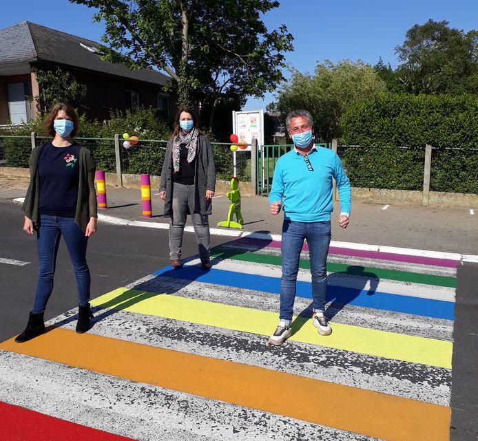(rechts) Gary Peeters (CD&V), schepen van Gelijke kansen, op een zogenaamd gaybrapad.