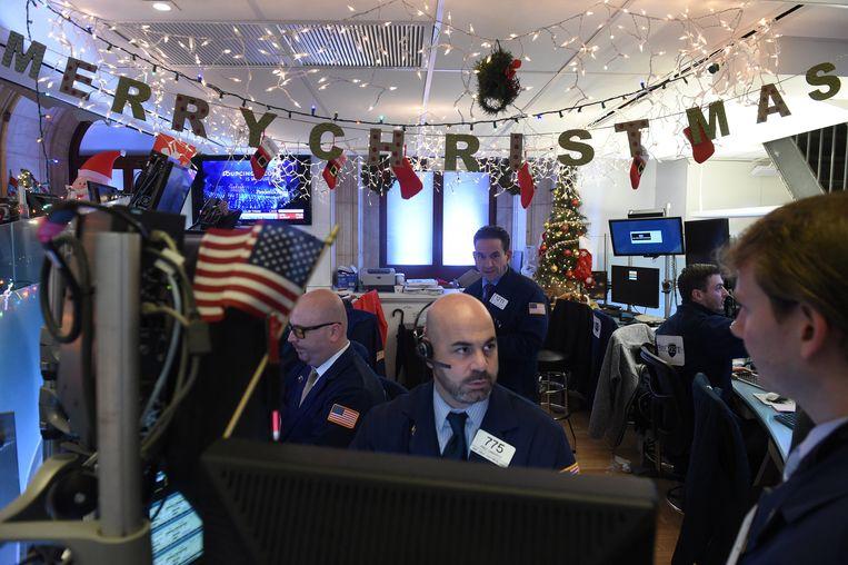 Beurshandelaren in New York. Beeld REUTERS