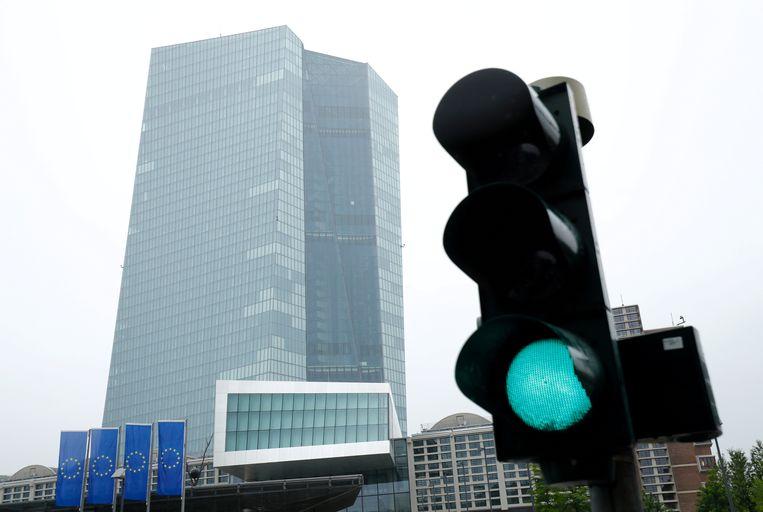 Het hoofdkwartier van de Europese Centrale Bank in Frankfurt, Duitsland. Beeld REUTERS