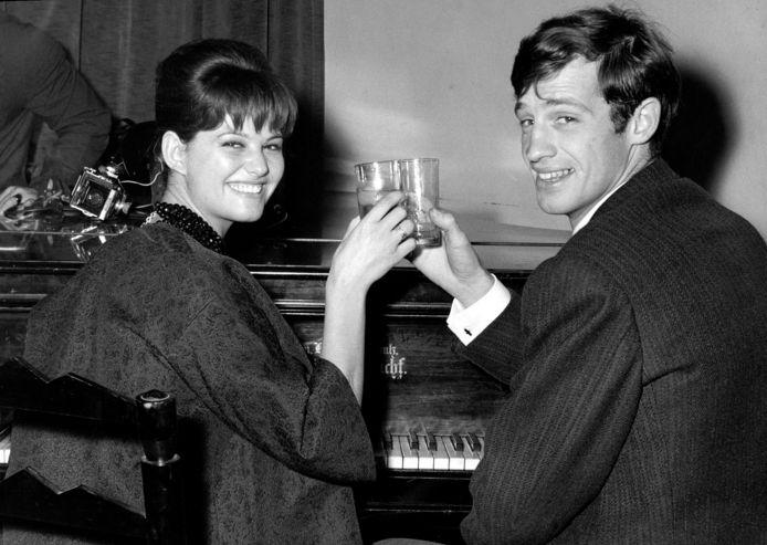 Claudia Cardinale avec Jean-Paul Belmondo en 1960.