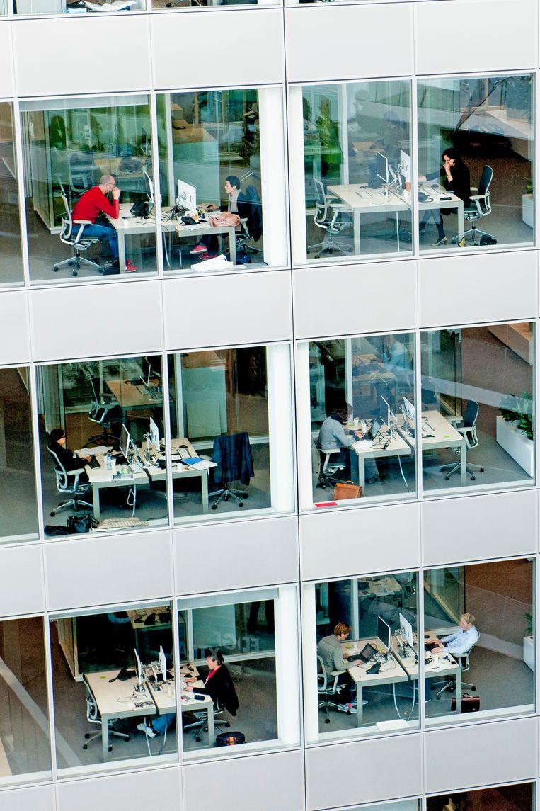 Het kantoor van Deloitte aan de Amsterdamse Zuidas. Beeld Robin Utrecht