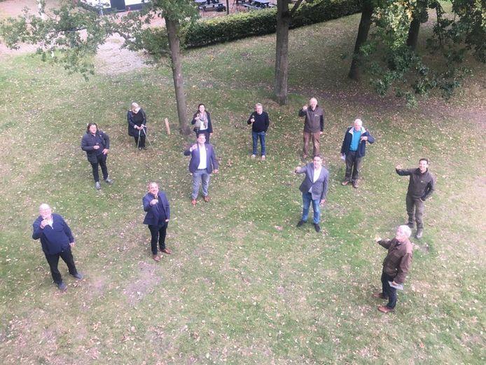Alle ondertekenaars van het convenant  Poortgebied Bergsche Heide