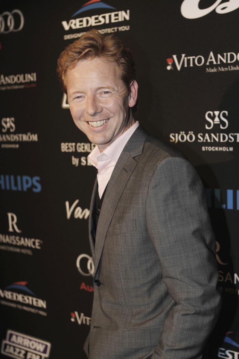 Gerrit Hiemstra op de rode loper bij de verkiezing van Best Geklede Man uit 20 jaar Esquire in 2010. Beeld anp