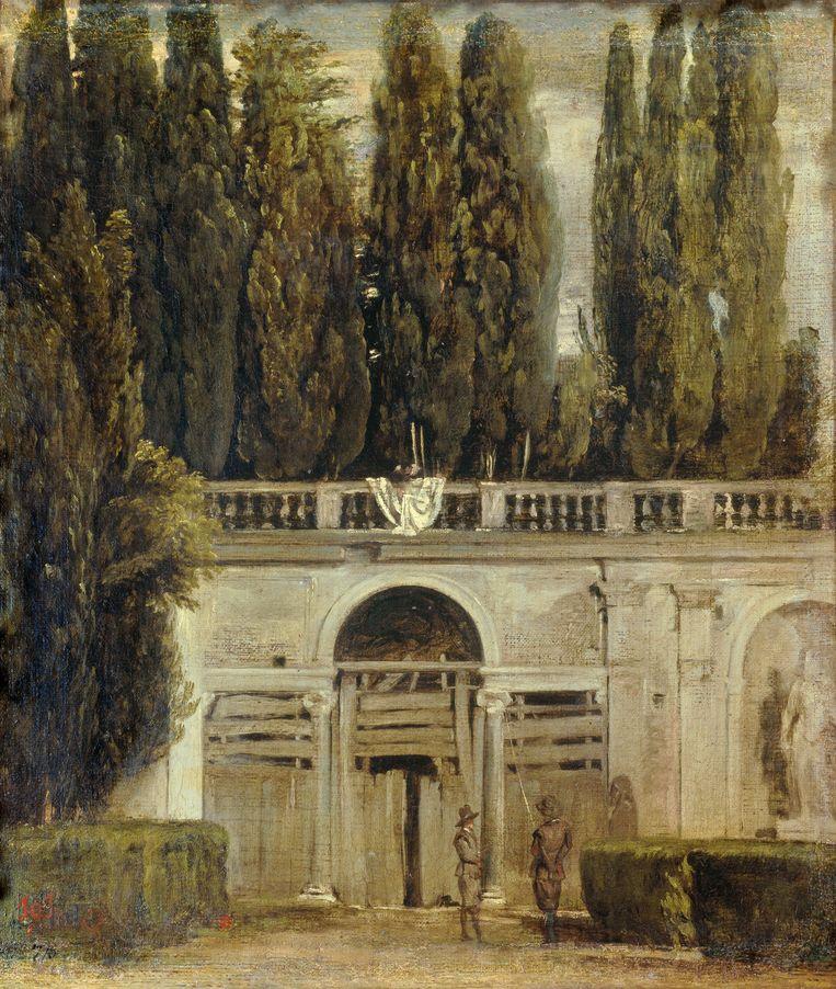 Diego Velazquez (1599-1660), Gezicht op de tuinen van de Villa Medici  Beeld Getty Images