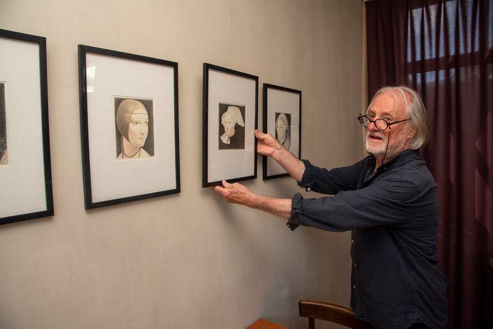 Jaak De Roo stelt tentoon in het Gesproken Dagblad in Wetteren.
