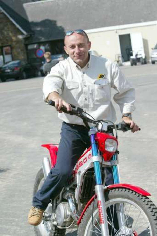 Eric Geboers, voormalig wereldkampioen motorcross. Beeld
