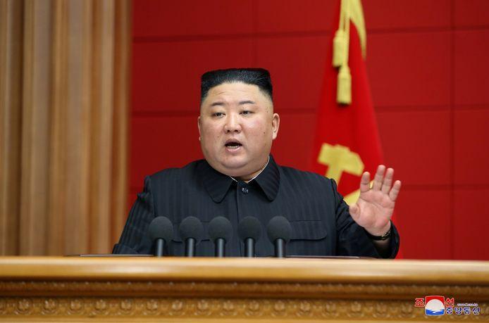 De Noord-Koreaanse leider Kim Jong Un.