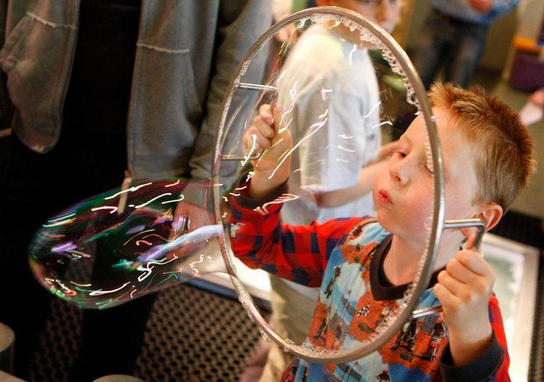 Zeepbellen en Nemo: een gouden combo Beeld anp